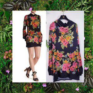 NEW Free People Floral Rose Boho Mini Dress S